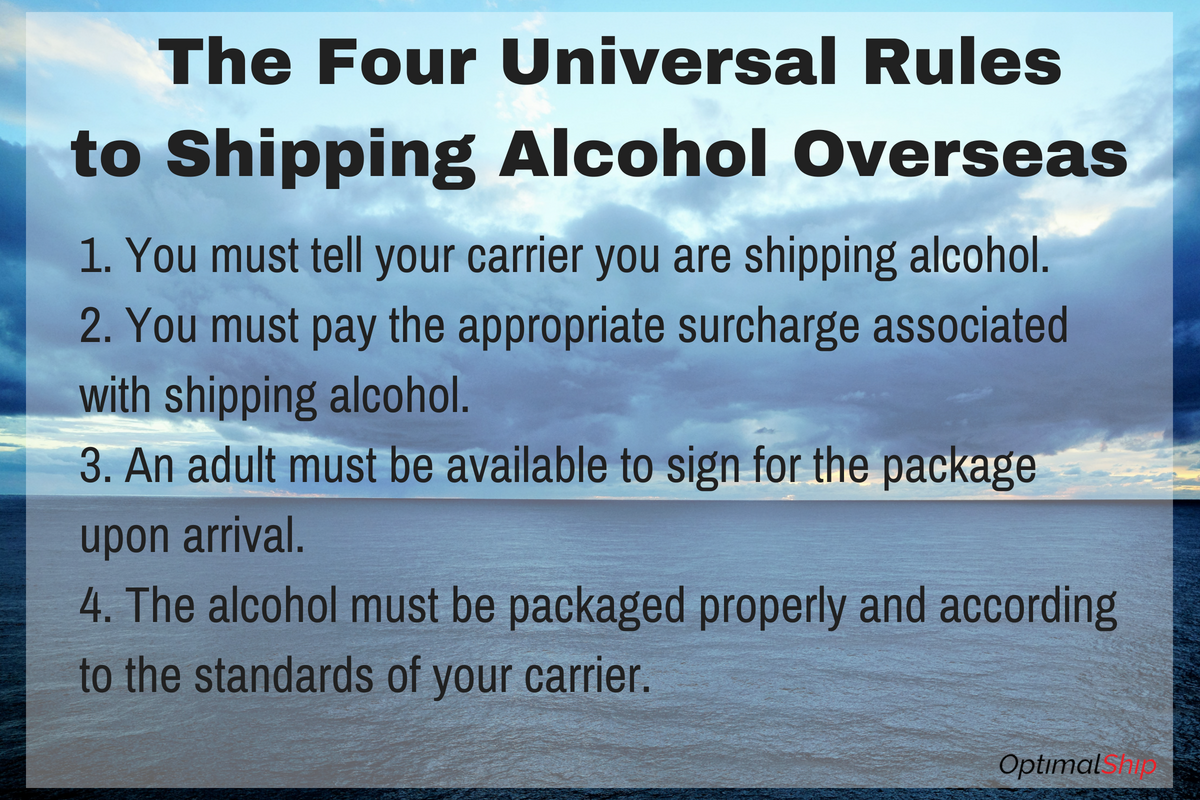 The Four Universal Rulesto Shipping Alcohol Overseas
